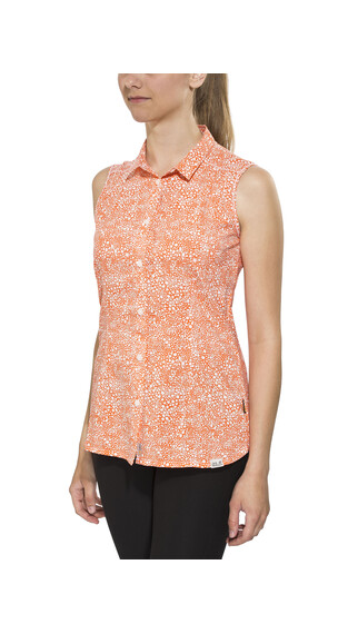 Jack Wolfskin Wahia Print Sleeveless Shirt Women watercress blossom all over